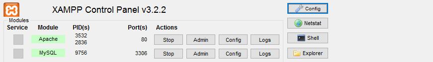 Ошибка при запуске Apache в XAMPP — Error: Apache shutdown unexpectedly